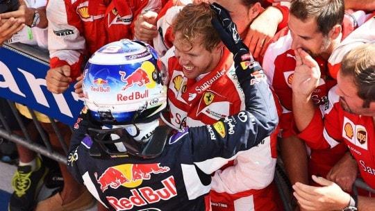 Vettel e Ricciardo post gara