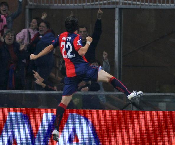 Genoa's Argentinian forward Diego Albert