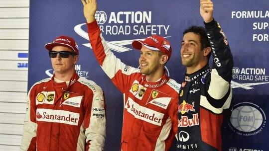 Vettel Ricciardo Raikkonen bis Qualifiche
