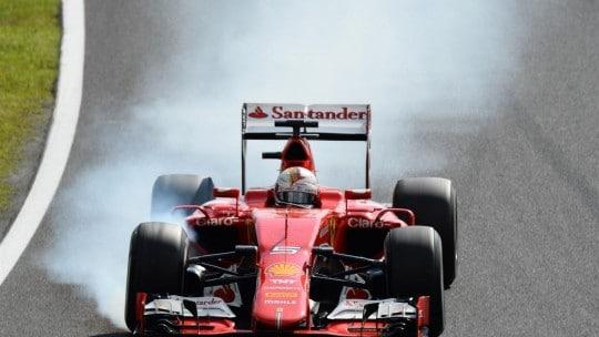 Vettel a ruote fumanti Gara