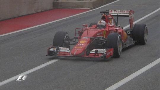 Vettel gomme medie Gara