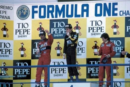 Senna Mansell Prost Jerez 1986