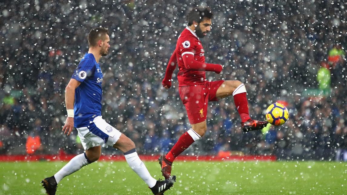 Salah, un gol pazzesco sotto la neve