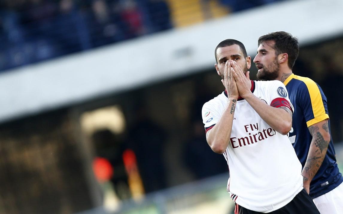 Il Milan crolla a Verona