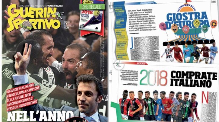 Guerin Champions, le ambizioni europee della Juventus nel nuovo numero in edicola