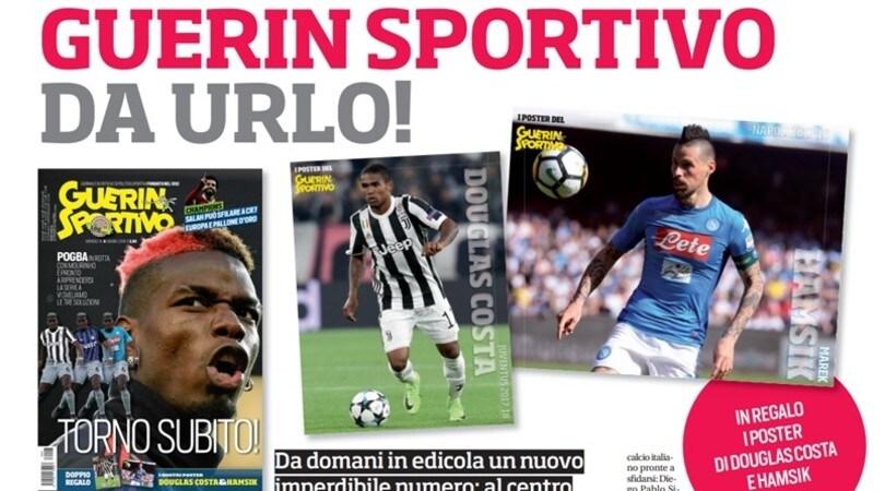Il nuovo Guerin Sportivo con i poster di Douglas Costa e Hamsik