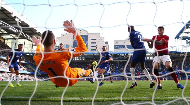 Chelsea-Manchester Utd, pari con emozioni a Stamford Bridge