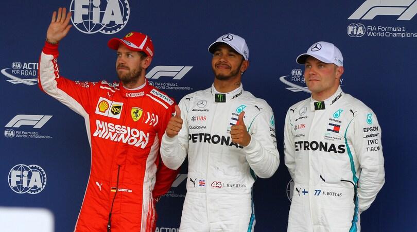 F1 Brasile: Hamilton in pole, Vettel secondo con reprimenda e multa