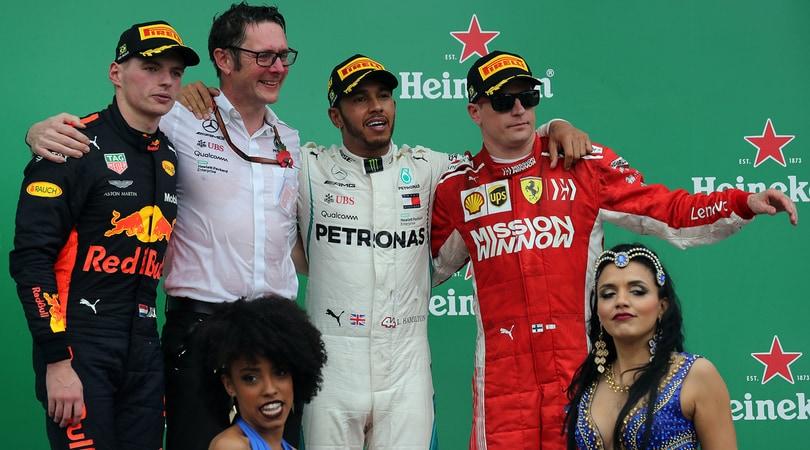 F1 Brasile: vince Hamilton, rissa sfiorata tra Verstappen ed Ocon