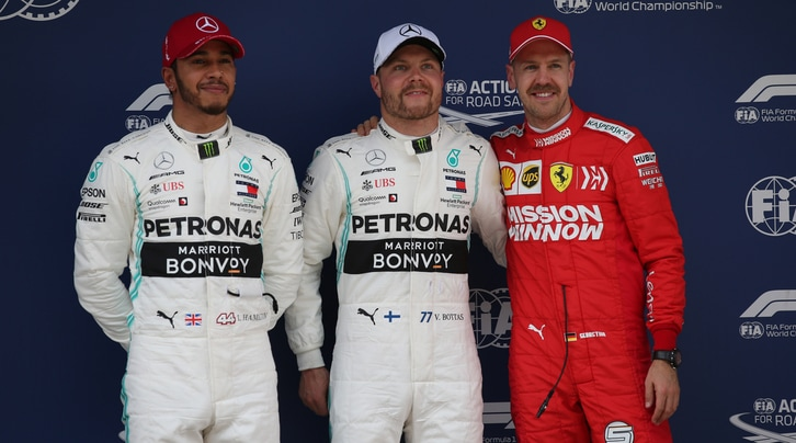 Qualifiche Gp Cina: Bottas in pole, Ferrari in seconda fila
