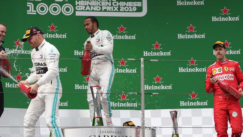 F1 Cina: doppietta Mercedes nel Gp numero 1000