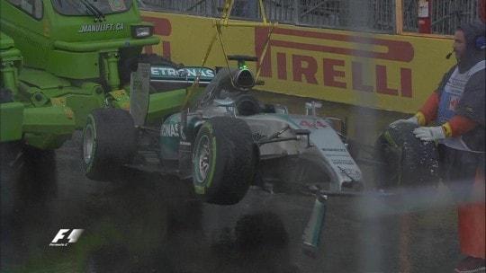Monoposto Hamilton post incidente